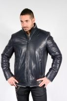 D651 -  Navy Blue Lambskin Jacket