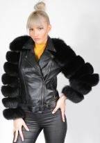 Lambskin and Fox Jacket