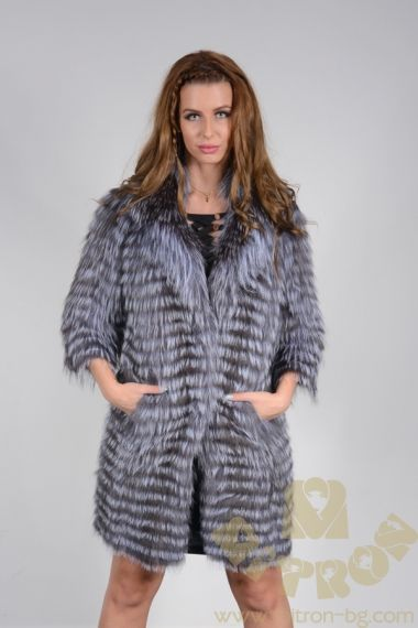 MANTO90 Nora Fox Knitted Coat