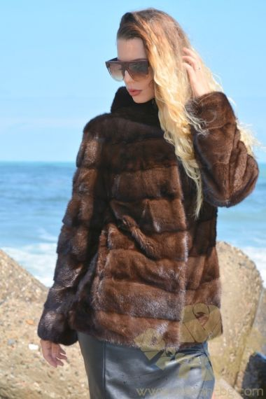 NORKA26 Brown Mink Fur jacket
