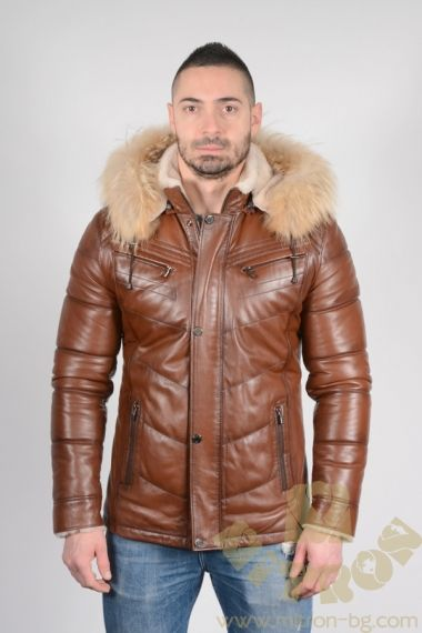 DB20 -Lambskin and Raccoon Hooded Jacket