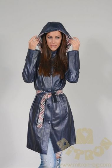 AA113 - WOMEN'S VEST LEATHER TRENCH COAT