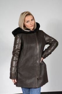 DA71 Women's Multitexture Lambskin Coat