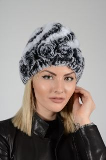 HAT-ROSE -  chinchilla ladies hat