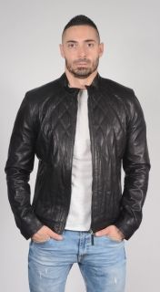 BB38 Calfskin Sports Leather Jacket