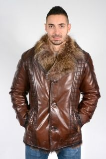D653 - MEN'S SHEATHER COW LEATHER WITH COLLAR