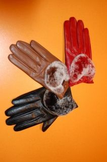 LADY19 -  Ladies gloves lambskin and chinchilla
