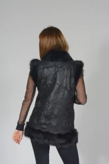 E-MITRON Black Sheepskin Gilet