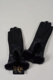 Lady202 -  ladies gloves lambskin and mink