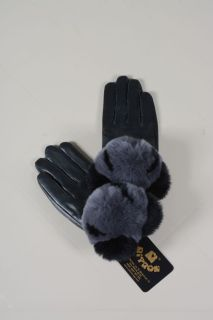 Panda -  ladies gloves lamb napa and chinchilla