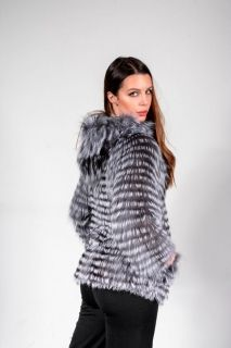 W11 -  lady's coat silver fox