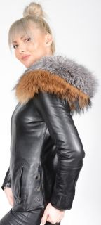Lambskin Jacket with Fox