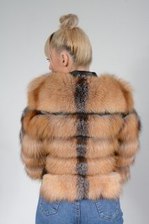 Women's Lambskin and Golden Fox Jacket