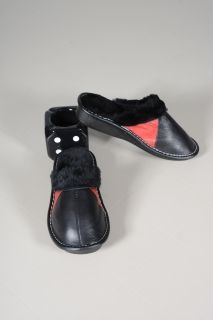 SHOE-1 Lambskin Leather slippers