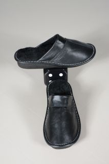 SHOE01 Men Leather Slippers